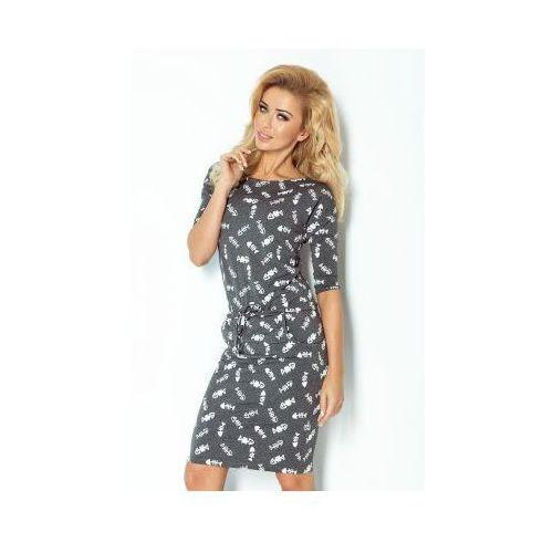 13-44 sukienka sportowa - fishbone/ości - grafit, Numoco