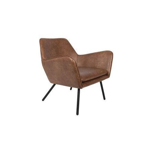 fotel lounge bon brązowy 3100040 marki Orange line