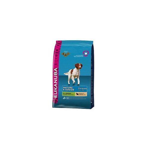 Eukanuba Podwójne punkty bonusowe: duże opakowanie - mature & senior all breeds, jagnięcina i ryż, 12 kg (8710255121390)