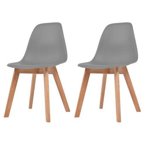 Vidaxl krzesła do jadalni, 2 sztuki, szare (8718475565413)