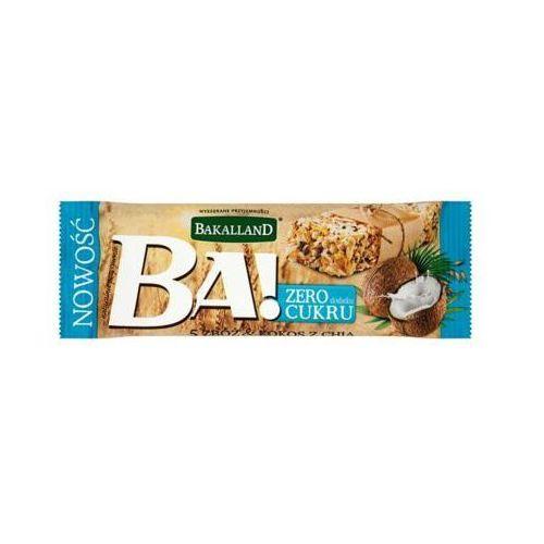 BAKALLAND 30g Ba! Baton zbożowy 5 zbóż kokos z chia