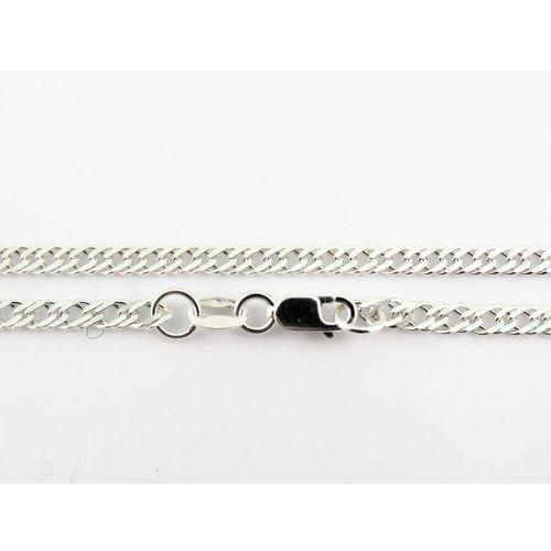 Srebrny (925) łańcuszek rombo 50 cm + gratis woreczek prezentowy biaky marki Megasilver
