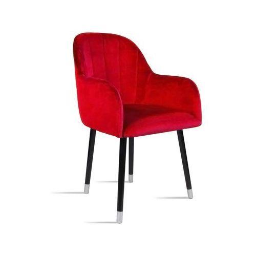 Krzesło besso czerwony/ noga czarny silver/ tr9 marki B&d