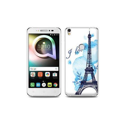 Alcatel Shine Lite - etui na telefon Fantastic Case - niebieska wieża eiffla