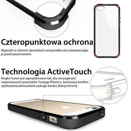 Rearth Obudowa | etui ringke fusion case + folia ochronna | apple iphone 5 5s se | kolor crystal view - crystal view