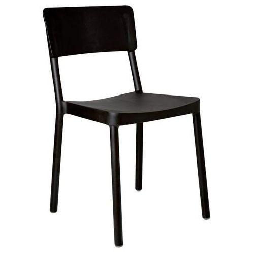 Krzesło Lisboa czarne, kolor czarny