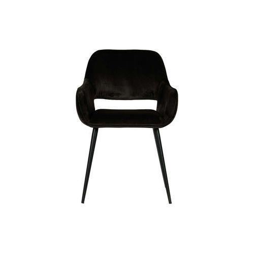 Woood zestaw 2 krzeseł jelle velvet czarne 375466-z (8714713089055)
