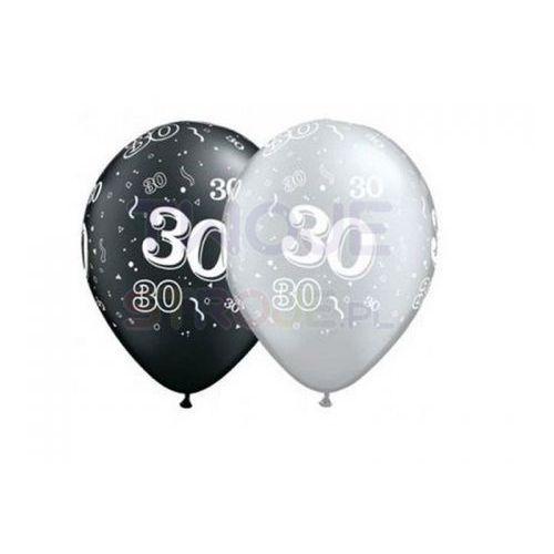 Balon szary/czarny 30th birthday 27cm 1szt marki Twojestroje.pl