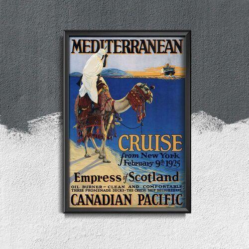 Retro plakat Retro plakat Śródziemnomorska Nowy Jork