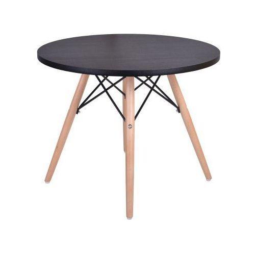 Krzeslaihokery Stolik kawowy czarny 60cm