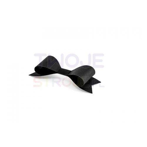 Twojestroje.pl Dekoracje papierowe kokardki czarne 9.5x3.2cm