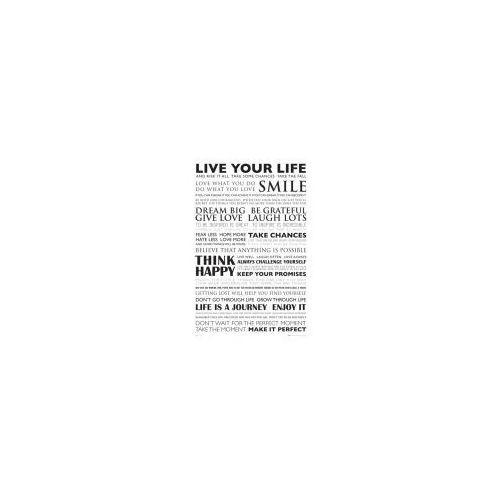 Gb Żyj własnym życiem - live your life - plakat motywacyjny