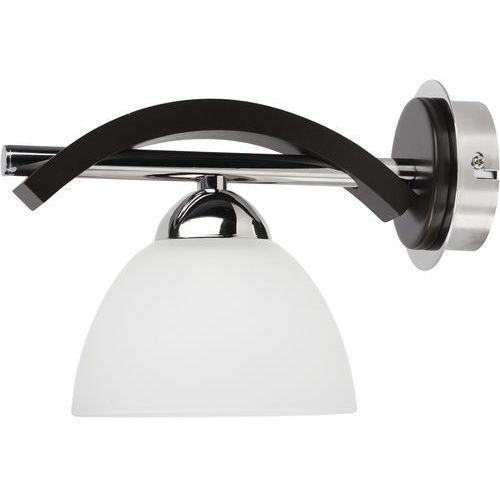 Alfa Lampa oprawa ścienna kinkiet fuji 1x60w e27 biała/brązowa 15740 (5900458157408)