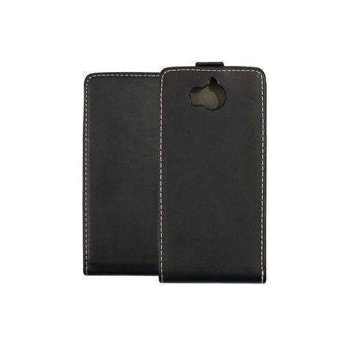 Huawei Y6 (2017) - etui na telefon Forcell Slim Flexi - czarny, kolor czarny