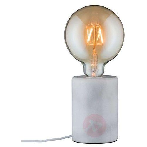Paulmann Biała, purystyczna marmurowa lampa stołowa nordin (4000870796016)