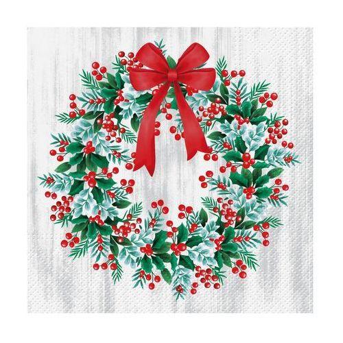 Paw decor Serwetki świąteczne wreath with rowan 33 x 33 cm 20 szt. (5906360484250)