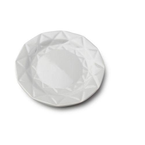 Talerz deserowy adel szary ceramika diament marki Mondex