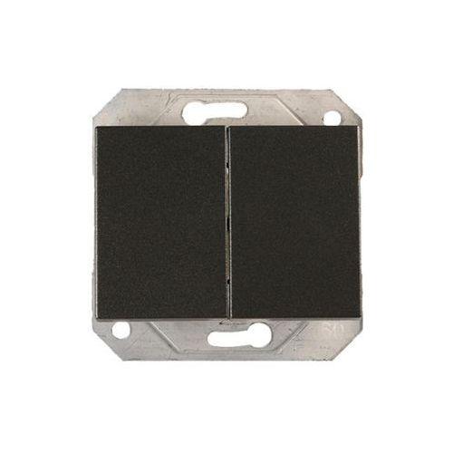 Dpm Włącznik schodowy p(6+6)10-020-02gr grafit