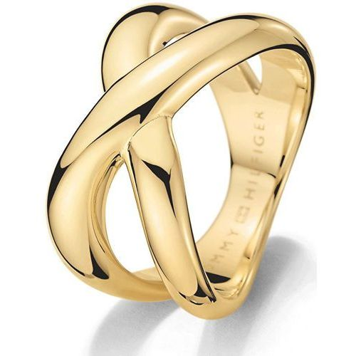 Tommy Hilfiger Masywny złoty pierścień ze stali TH2700964 (obwód 56 mm) (2031500474129)