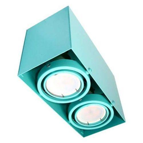 Milagro Plafon lampa sufitowa blocco 0845 metalowa oprawa natynkowa led 14w oczka regulowane prostokąt turkusowy