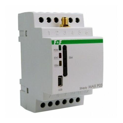 Przekaźnik zdalnego sterowania GSM Sterowanie temperaturą SIMply MAX P03 F&F 9784 (5908312599784)