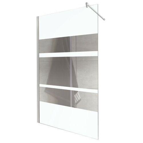 Ścianka prysznicowa z lustrzanymi pasami 120 cm Flash Kerra