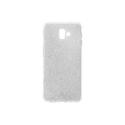Samsung Galaxy J6 Plus - etui na telefon Forcell Shining - srebrny, kolor szary