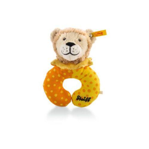 Steiff Chwytak Lew Leon, 14 cm, kolor beżowo-żółto-pomarańczowy (4001505240638)