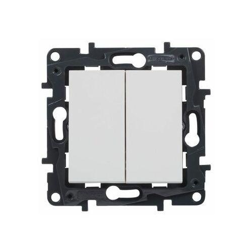 Włącznik podwójny structura biały marki Legrand