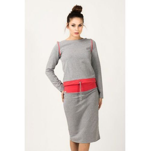 Bluza damska model milena 7 light grey/coral marki Tessita