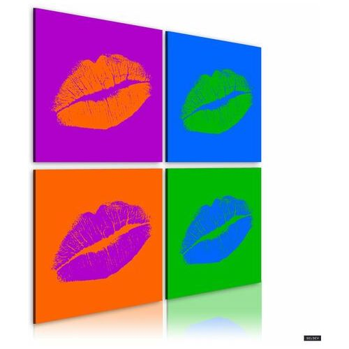 SELSEY Obraz - Pocałunki: Pop art 40x40 cm (5903025038100)