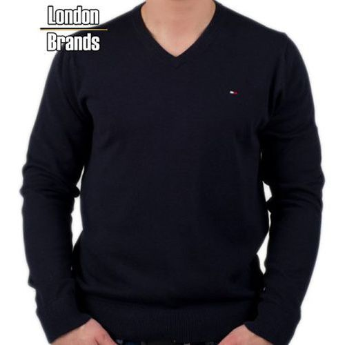 Sweter v-neck  czarny marki Tommy hilfiger