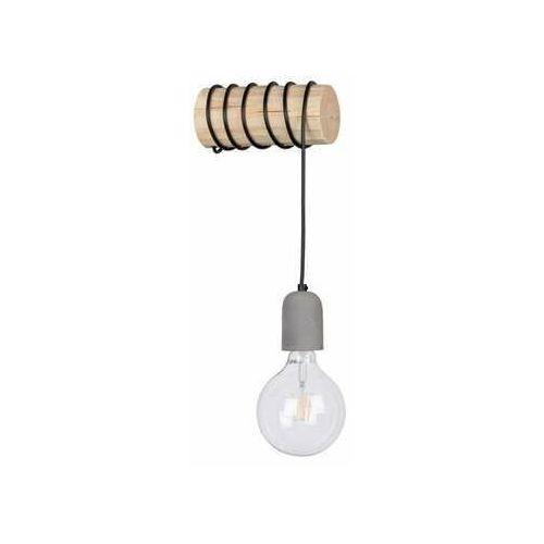 trabo concrete 69399150 kinkiet lampa ścienna 1x25w e27 drewno/szary marki Spot light