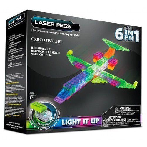 Klocki Laser Pegs 6w1 samolot świecące