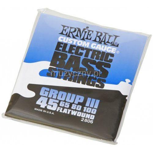 Ernie ball 2806 flatwound bass struny do gitary basowej 45-100
