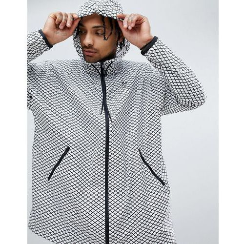 Adidas originals plgn oversized windbreaker jacket in white cw5102 - white
