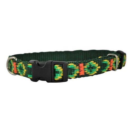 CHABA Obroża taśmowa regulowana ozdobna kolor: zielony 25mm / 60cm
