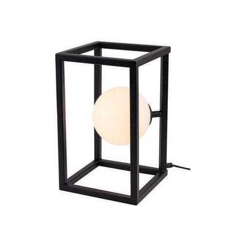 Aldex Cube Glass 1027B1 lampa stołowa lampka 1x60W E27 czarny, 1034G/L