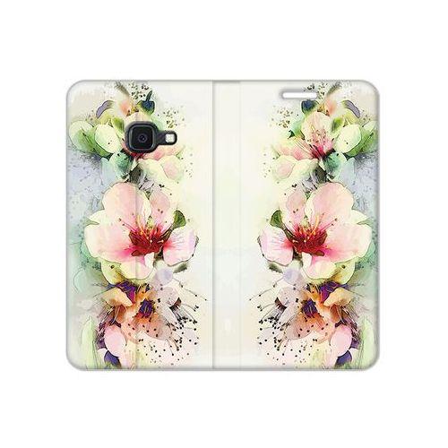 Samsung Galaxy Xcover 4S - etui na telefon Flex Book Fantastic - róże herbaciane
