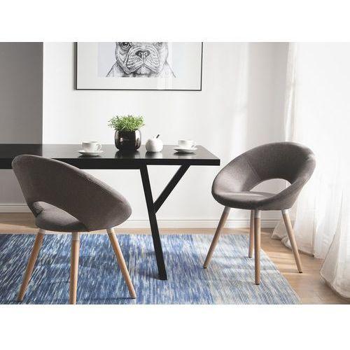 Zestaw do jadalni 2 krzesła brązowe ROSLYN, kolor brązowy
