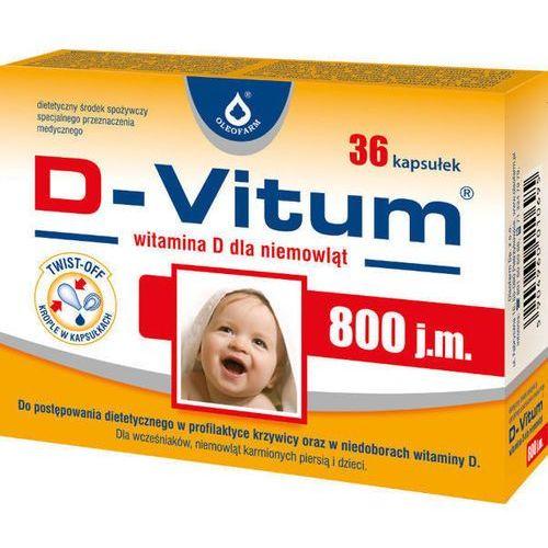 Kapsułki D-VITUM 800 j.m. Witamina D dla niemowląt x 36 kapsułek twist-off