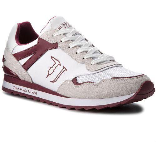 Sneakersy TRUSSARDI JEANS - 77A00109 W005, kolor biały