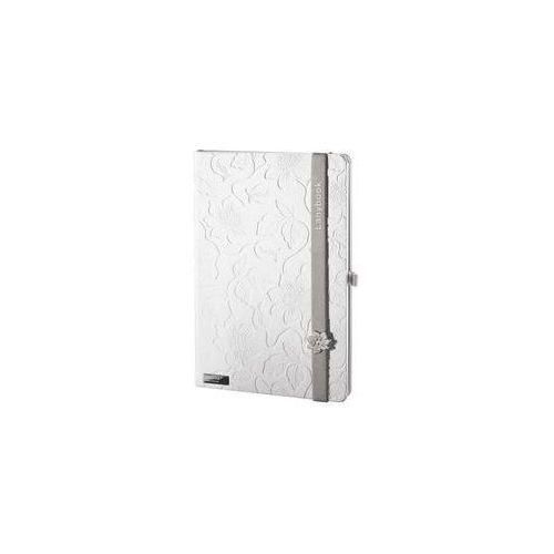 Notes A5 Lanybook Innocent Passion White w kratkę z szarą gumką (8057432195479)