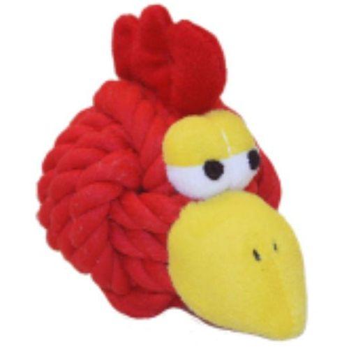 Knottie head chicken - wytrzymały gryzak dla psa z dźwiękiem marki Happypet