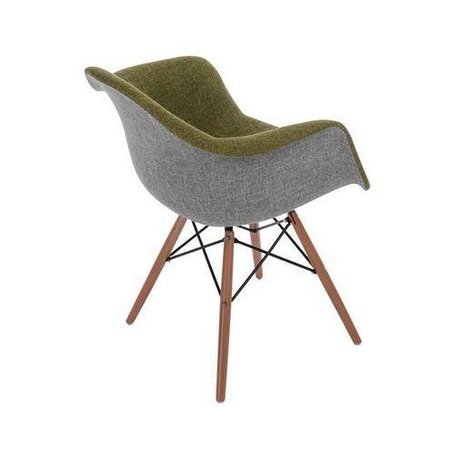 Krzesło P018 Duo inspirowane DAW - szary ||zielony, kolor zielony