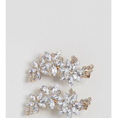 True decadence diamante hair clips - silver