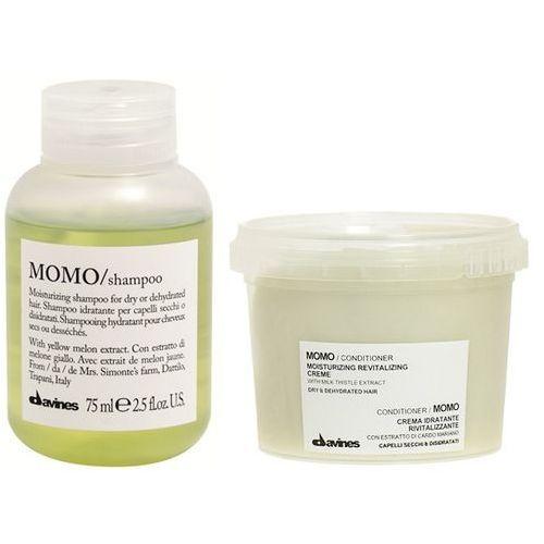 Davines momo | minizestaw nawilżający do włosów: szampon 75ml + odżywka 75ml