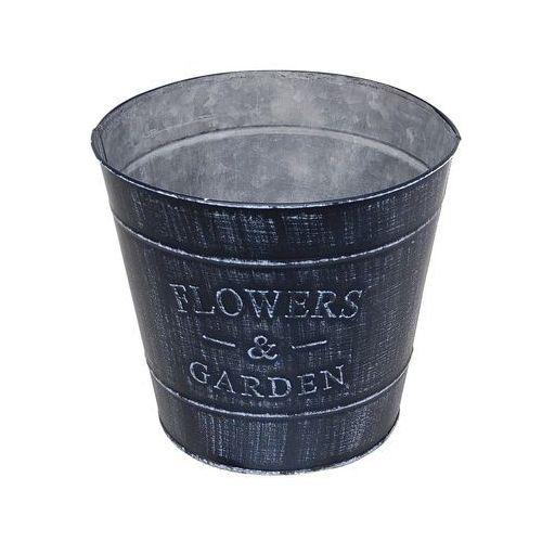 Osłonka Flower Garden okrągła metalowa 13cm