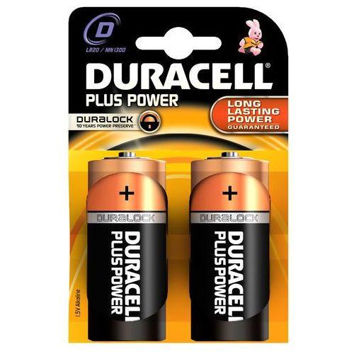 Bateria alkaliczna  plus power lr20 d 2 sztuki wyprodukowany przez Duracell