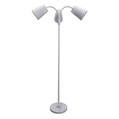 Lampa podłogowa biała, na 3 żarówki, Comfort DeMarkt Megapolis (112040303) (4250369180097)